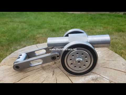 SIX Barrel !!! Powerful Mini Cannon 9mm Caliber experiment