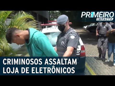 Quadrilha é presa após roubar mais de 100 celulares em shopping | Primeiro Impacto (21/01/21)