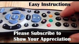 instructions demo on how to program set up the sky remote control to your television samsung etc