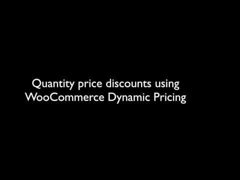 Quantity price discounts using WooCommerce Dynamic Pricing
