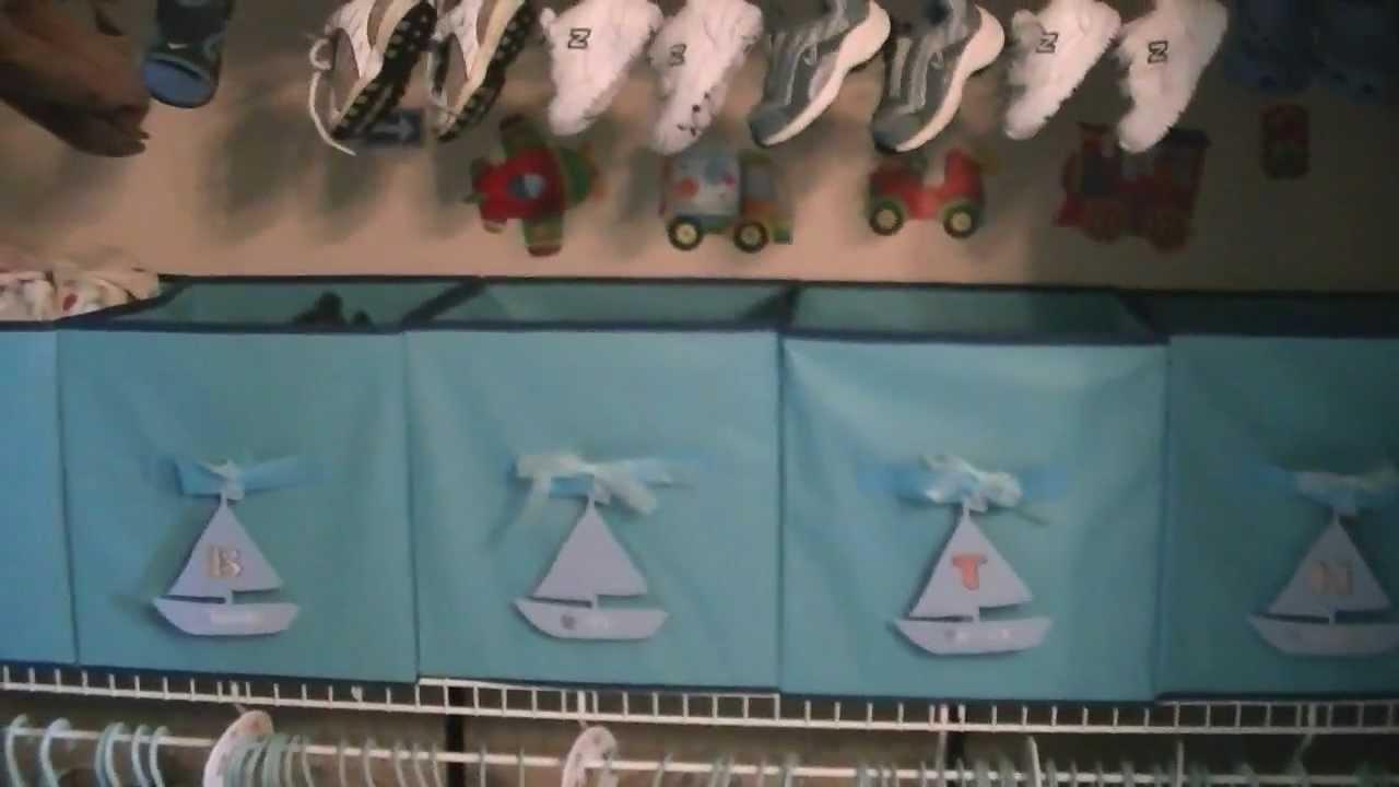 How To Organize A Nursery Closet On A Budget   YouTube