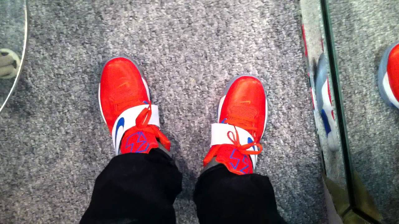 7f7e66a14b8b4e Nike KD IV Creamsicle ON FEET - Total Orange   Photo Blue - YouTube
