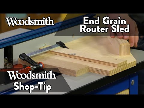 Woodworking Tip: End Grain Router Sled