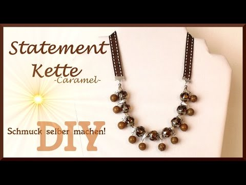 schmuck selber machen statement kette caramel diy youtube. Black Bedroom Furniture Sets. Home Design Ideas