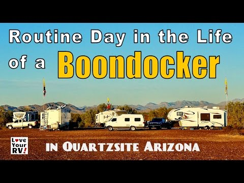 Routine Day in the Life of an RV Boondocker