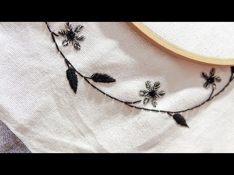 Hand Embroidery Design for beginners: Stitching Tutorial