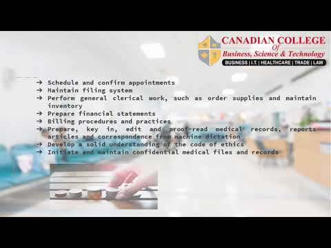 Medical Office Administrator Course CCBST