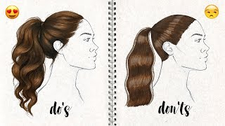 DO'S AND DON'TS: How to Draw Semi Realistic Hairstyle | Natalia Madej