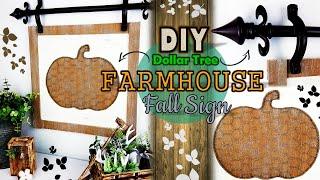 Dollar Tree DIY   Farmhouse Hanging Fall Sign