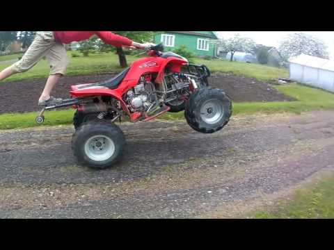 Trying to do wheele,but going bad.. Bashan bs7 200cc