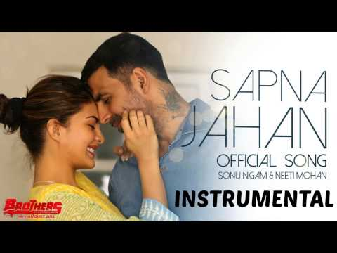 Sapna Jahan - Brothers (Piano Karaoke/Instrumental) | Acoustic | Unplugged