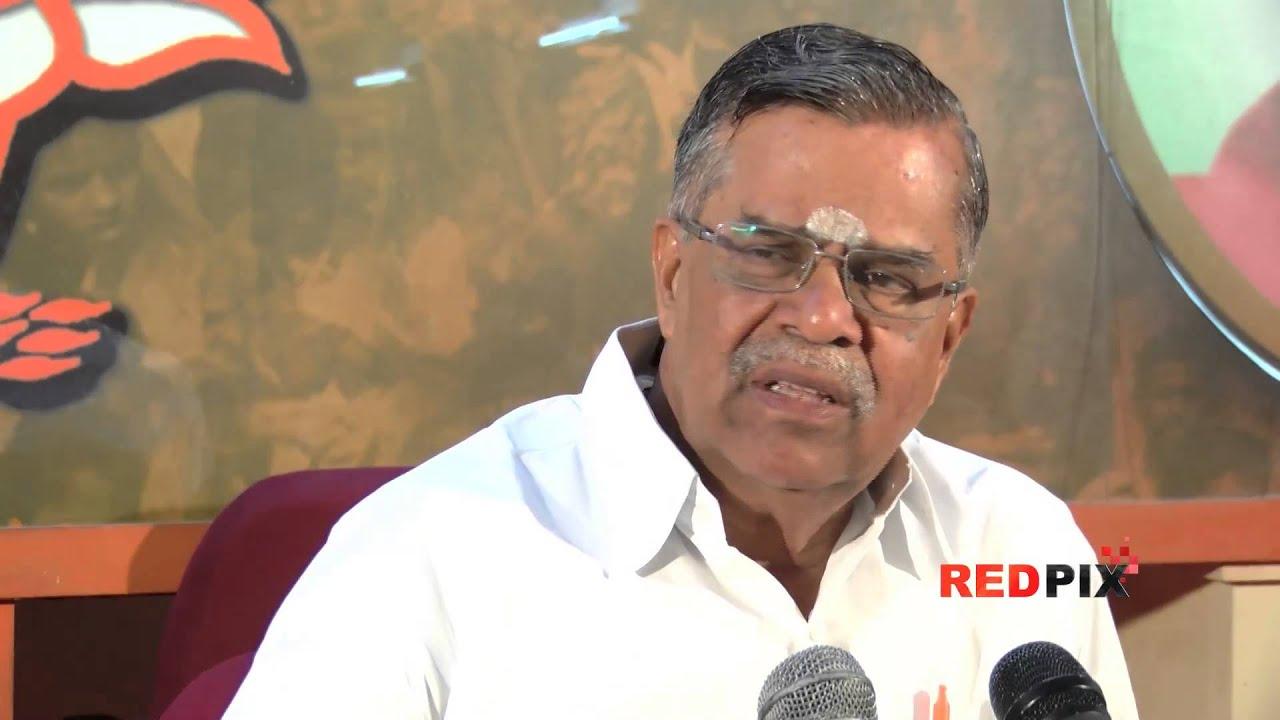 L. Ganesan BJP GenSec Auditor VRamesh News L Ganesan plays soft on