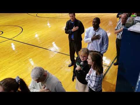 Star Spangled Banner at Park Place Christian Academy Basketball game - Hallie