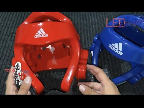 Atrás, atrás, atrás parte compromiso solamente  Revision (Review) careta (casco) Adidas para TaeKwonDo - YouTube