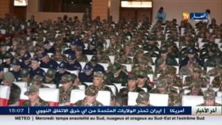 الفريق أحمد قايد صالح  في زيارة الى الناحية العسكرية الخامسة