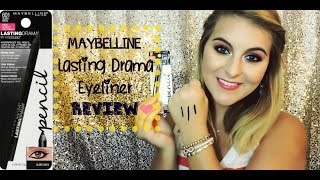 NEW! Maybelline Lasting Drama Gel Liner Pencil REVIEW