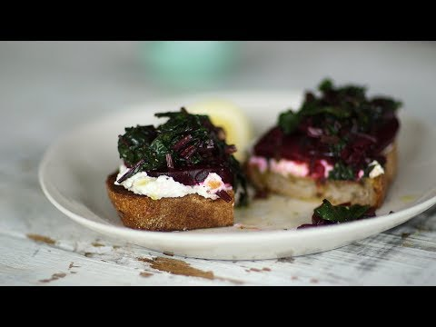 Beets with Greens and Ricotta on Toast Video- Healthy Appetite with Shira Bocar