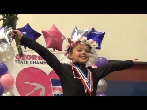 Whitney Bjerken   Level 4 Gymnastics State Meet   All Around Champion (37.9)