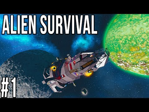 Space Engineers - ALIEN SURVIVAL - Ep 1 - Spiders!!!