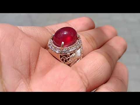 Batu Permata Natural Ruby Merah Delima Asli (kode:738)