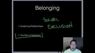 AP Psychology - Motivation - Part 5 - Ostracism & Belonging