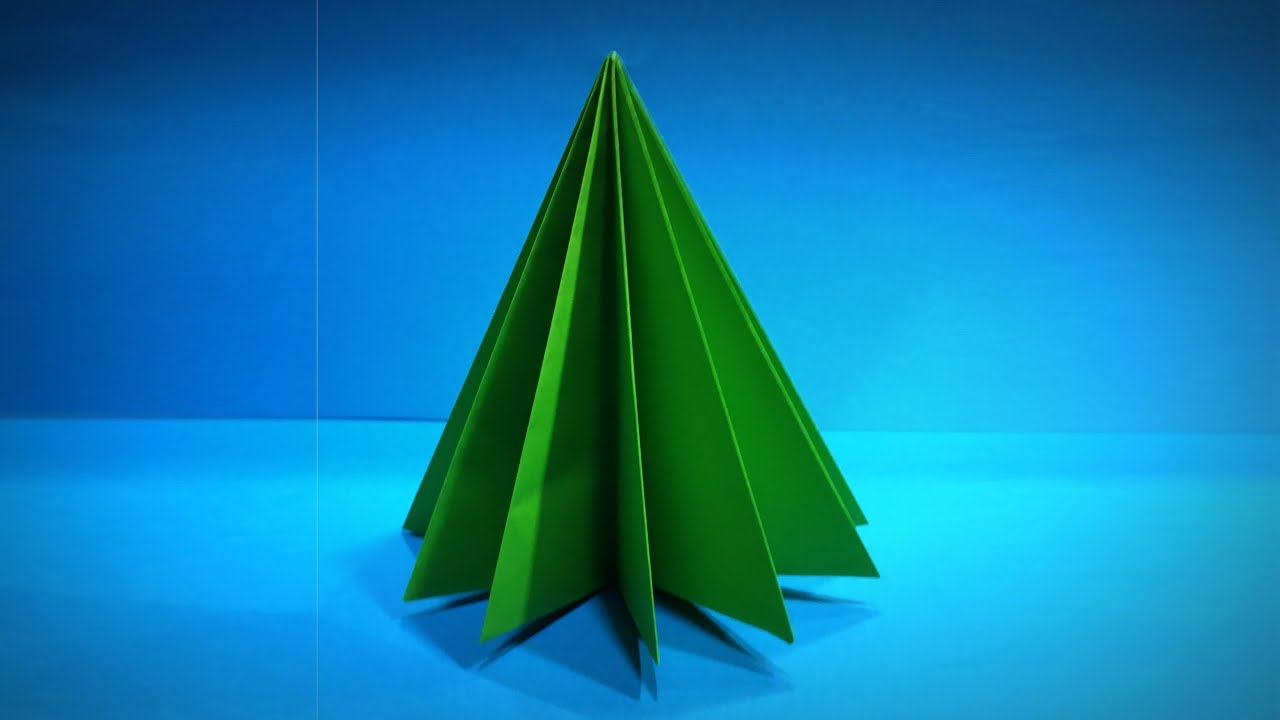 Origami Christmas Tree | How to Make a Paper Christmas Tree DIY | Easy Origami ART Paper Crafts