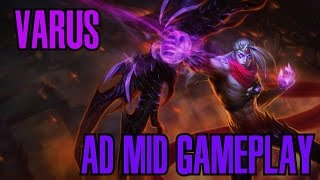 League of Legends - Varus AD Mid Gameplay - WHEEPA PLAYS [PT-BR]