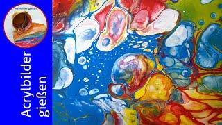 Acryl Fließtechnik: GROẞE Zellen bekommen & behalten 7 Tricks 🎨 Getting & Keeping HUGE Cells) (120)