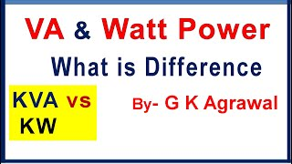 KVA and KW, Active Reactive and Apparent Power difference