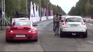 700 HP Nissan Juke R vs. 900 HP Porsche 911 Turbo. Unlim 500+