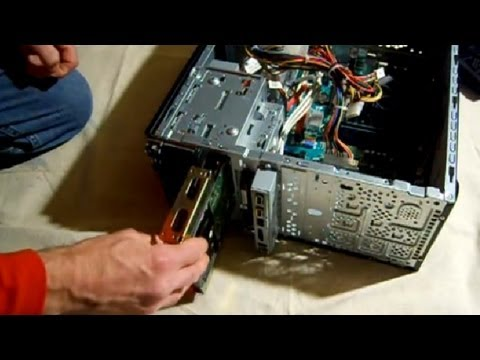 How to install SATA hard drive into a computer