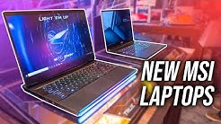 New MSI Gaming Laptops! GE66, GS66, Bravo 15 + More at CES 2020!