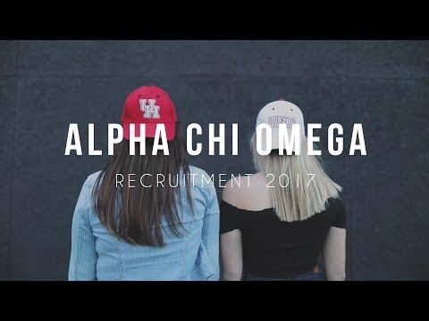 University of Houston - Alpha Chi Omega - Recruitment 2017