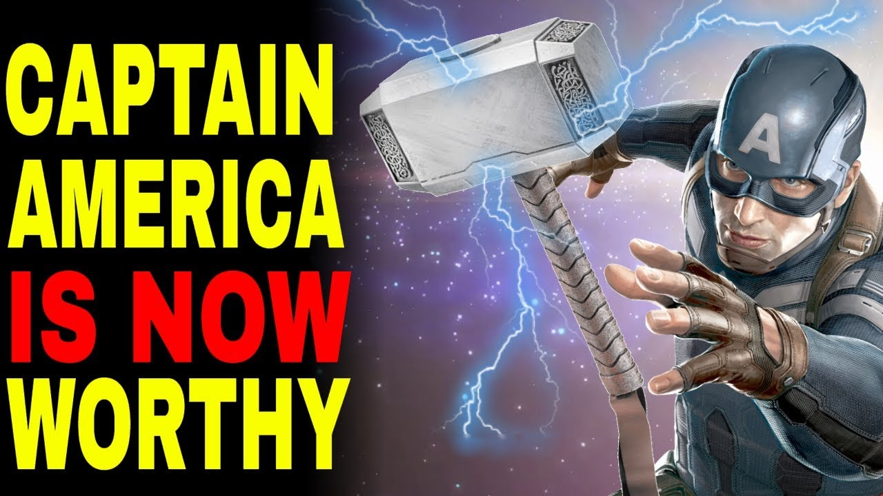 d99aa83ca6e Here s Why CAPTAIN AMERICA Can NOW Lift Thor s Hammer - YouTube
