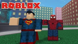 SPIDER-MAN VS SUPERMAN! Roblox Dawn of Heroes
