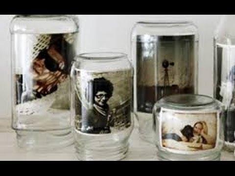 Manualidades con frascos de vidrio 2 youtube - Manualidades con envases ...