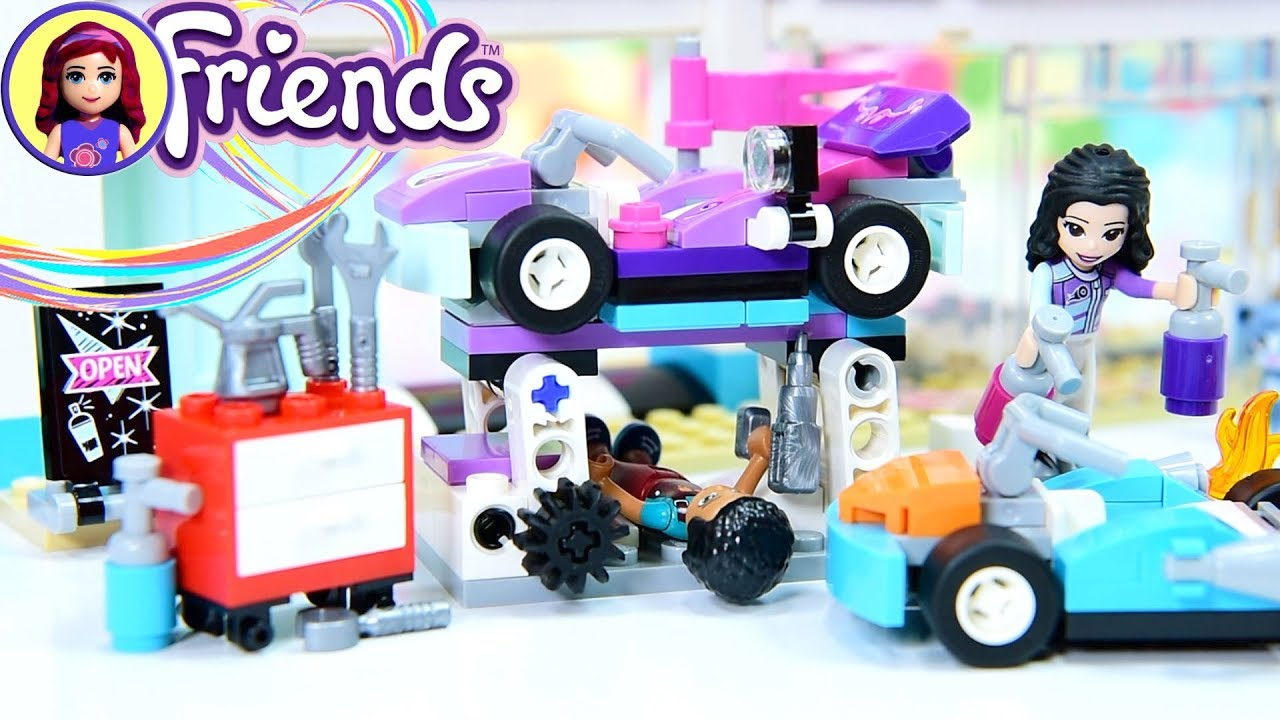 kart småland Lego Friends Creative Tuning Shop Go Kart Workshop Build Review  kart småland
