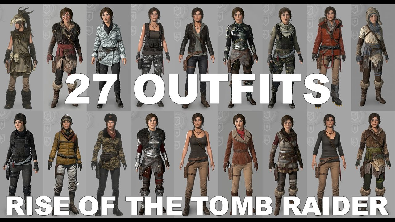 Image result for rise of the tomb raider outfits