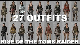 Rise of the Tomb Raider - 27 Outfits, including unreleased DLC (see Description)