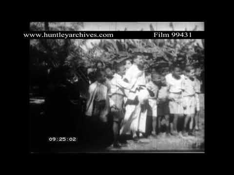 Haiti in the 1950's.  Archive film 99431