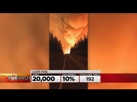 Wildfire In Shasta County Explodes In Size, New Evacuations Ordered