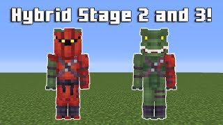Making Hybrid Stage 2 and 3 Skins From Fortnite in Minecraft! | Speedpaint (Download in Desc!)