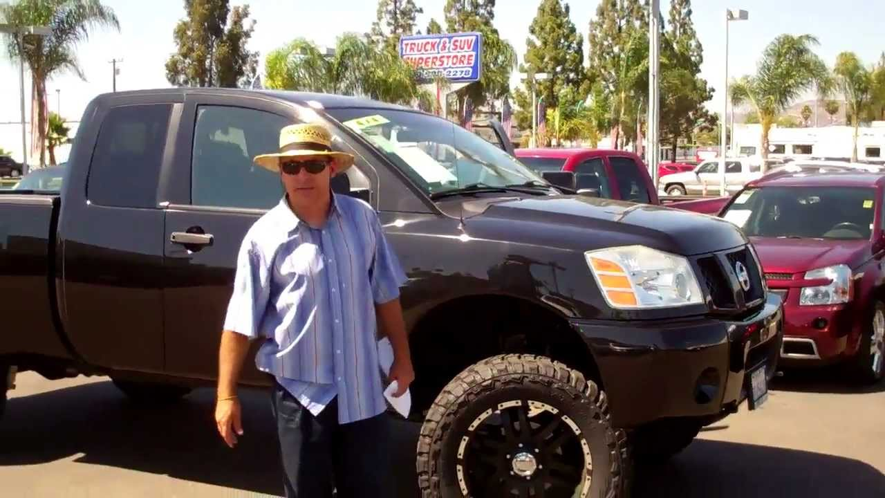 Lifted Nissan Titan >> 110635 2006 CUSTOM LIFTED NISSAN TITAN 4X4 - YouTube