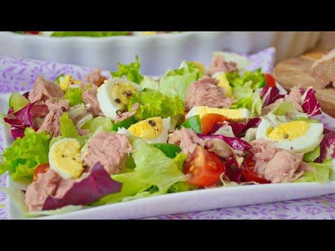 Салат с Тунцом (Консервированным) ⭐ Лучший Ресторанный Рецепт для ПП и не только!