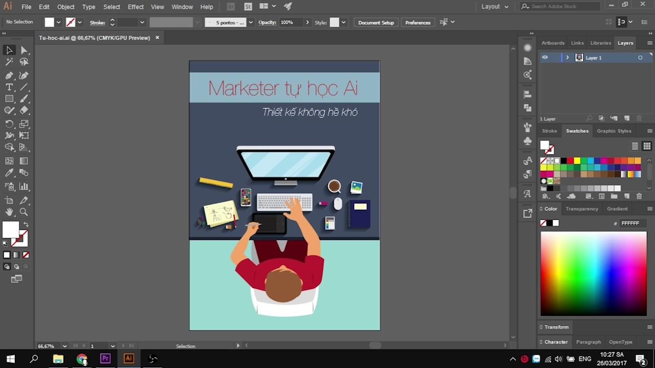 [Adobe Illustrator] Tổng quan phần mềm Ai