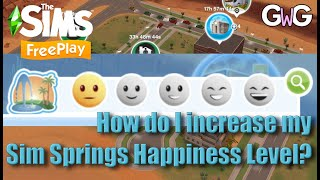 The Sims Freeplay- How do I increase my Sim Springs Happiness Level? screenshot 4