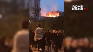 Notre Dame: French pray in the streets while firemen tried to stop the fire