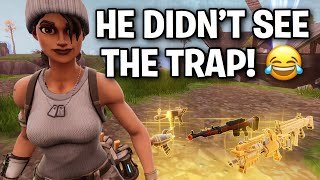 How did he not see the TRAP!! 🤣👌 (Scammer Get Scammed) Fortnite Save The World