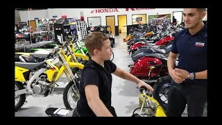What Dirt bike should Nathan get? He's 10.