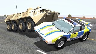Crazy Police Chases #75 - BeamNG Drive Crashes